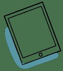 Pictogramme d'une tablette