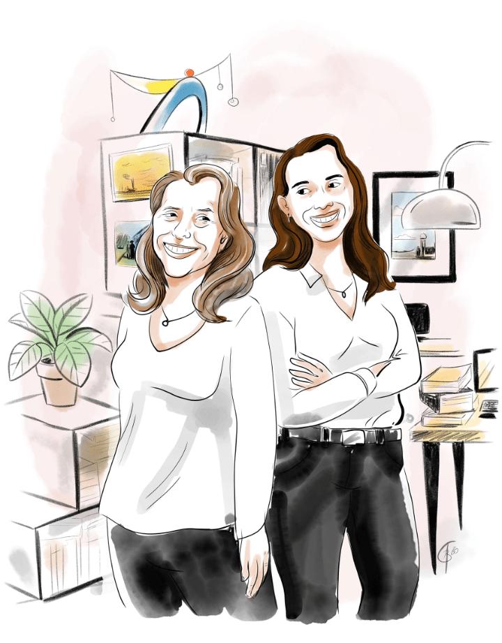Illustration de Katia et Annick Ziani, fondatrices d'Akyz.